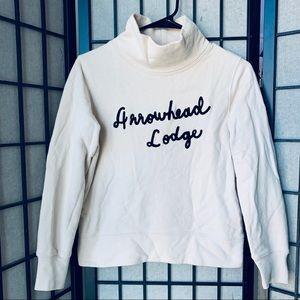 Madewell Arrowhead lodge sweatshirt mock neck XS